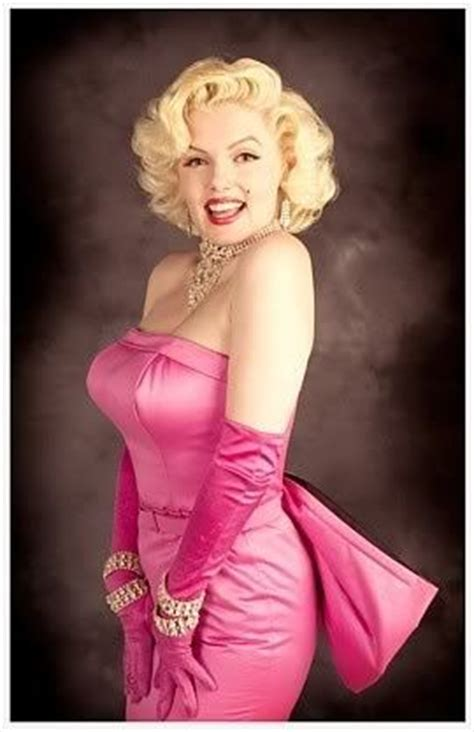 marilyn monroe  pink satin gown pictures