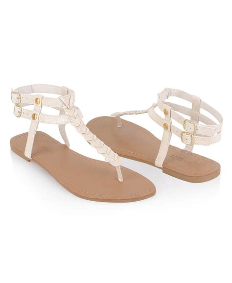 forever 21 sandals forever 21 leatherette sandals in white lyst
