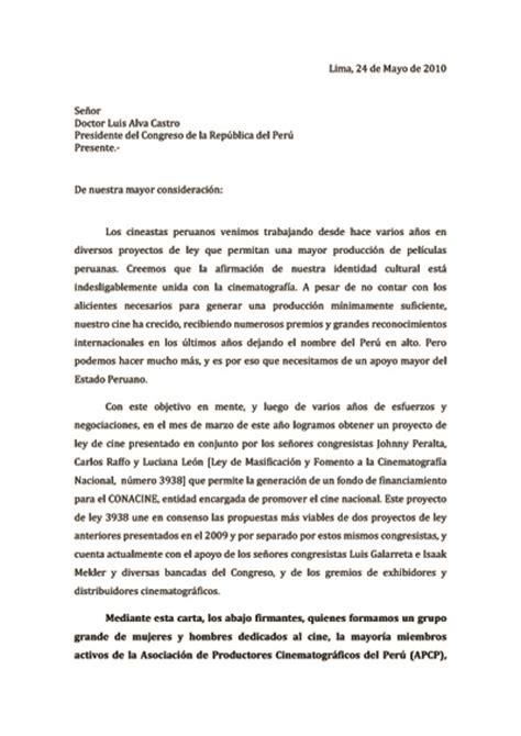 ley 22009 de 11 de mayo del presidente y del gobierno ley de cine carta de apcp al presidente del congreso