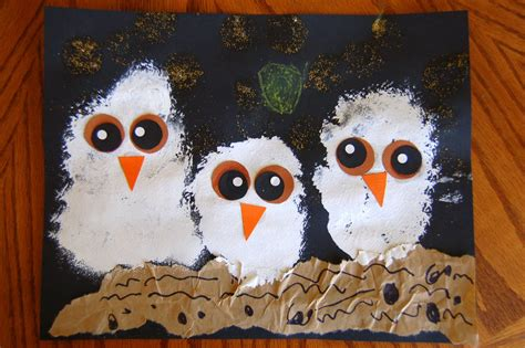owl craft quot owl babies quot craft i crafty things