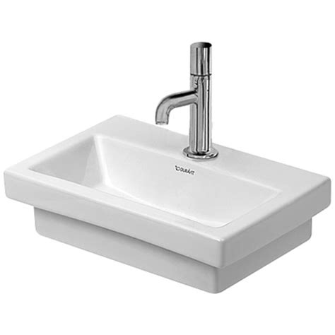 3second 515 White L duravit 2nd floor 400 x 300mm ground handrinse basin 0790400071