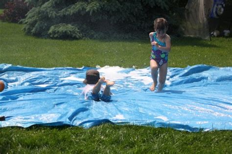 How To Build A Water Slide In Your Backyard by Easiest Water Slide For The Backyard Happy