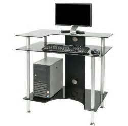Small Black Computer Desk Uk Black Corner Computer Desk Uk Hostgarcia