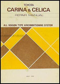 book repair manual 1978 toyota celica parking system 1978 toyota carina celica a c system manual original no mac 346