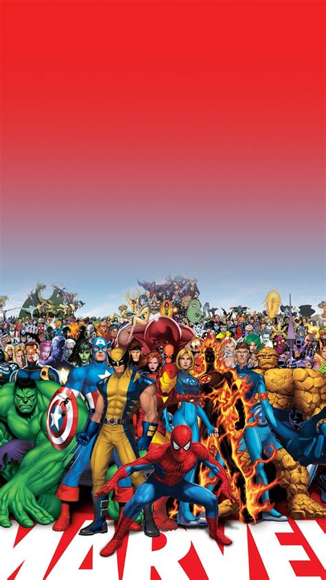 wallpaper iphone hd marvel freeios7 marvel family parallax hd iphone ipad wallpaper