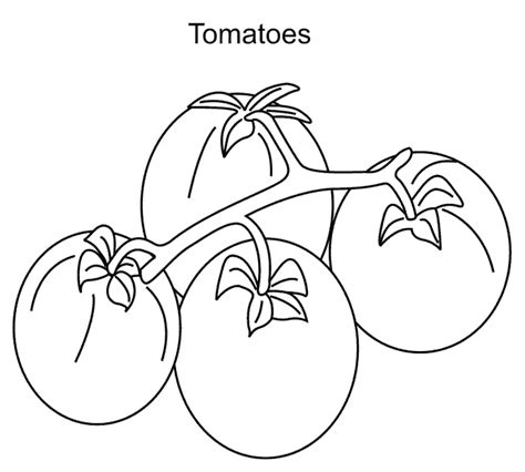 tomatoes coloring pages to download and print for free