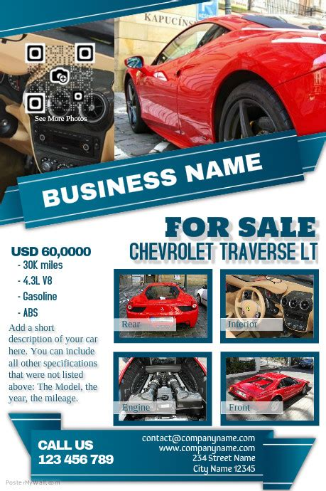 Light Colored Car Dealership Flyer Template Postermywall Car For Sale Flyer Template Free