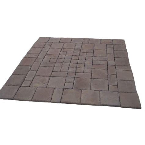 cass 100 sq ft brown concrete paver kit cassb