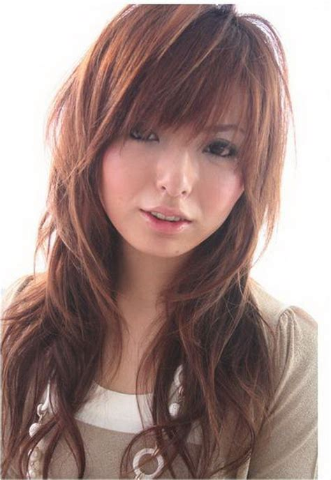 hair styles with bangs and layers around the face long hair layered haircuts for round faces