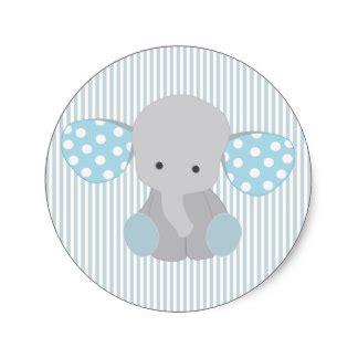 Elephant Baby Shower Boy by Baby Boy Stickers Zazzle