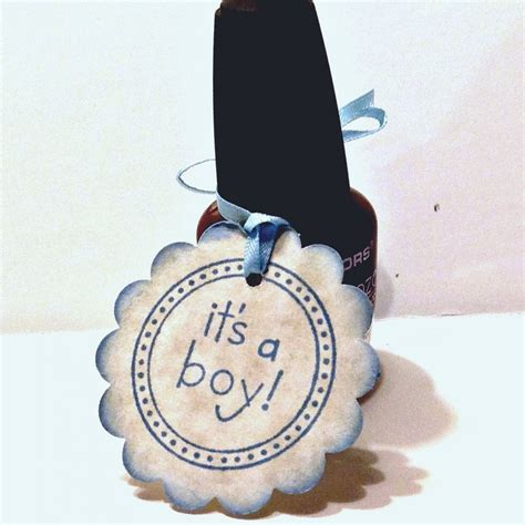 Baby Shower Favor Nail by 20 Baby Shower Favor Tags It S A Boy Baby Baby Tags