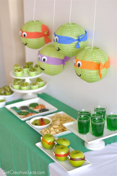 cute themes for birthday parties tmnt party ideas