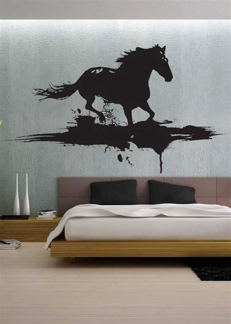 Full Wall Mural Decals modern horse uber decals wall decal vinyl decor art by