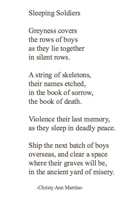 haiku of and war oif perspectives from a s books sleeping soldiers poem poetry about war sadness