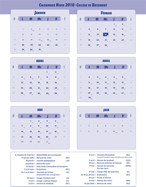 College De Montreal Calendrier Scolaire Coll 232 Ge Rosemont Calendrier Scolaire