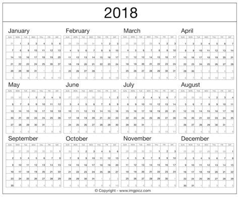Calendar 2018 All Months Printable Calendar 2018 All Months Printable Calendar 2018
