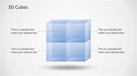 transparent 3d cubes for powerpoint slidemodel