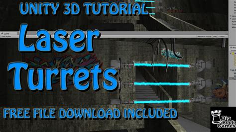 Unity Tutorial Laser | unity 3d tutorial laser beam turrets using particle