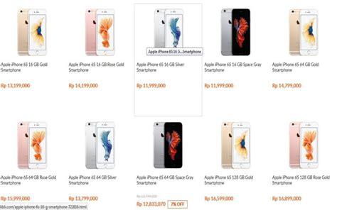 Berapa Mini 2 Di Indonesia ini harga iphone 6s di indonesia okezone techno