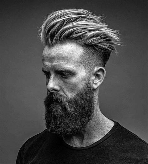 beard and undercut hairstyles undercut with beard haircut for men 40 manly hairstyles