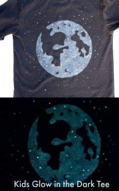 glow in the paint t shirt make a glow in the t shirt with an image of the moon