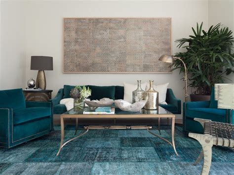 Teal velvet sofa living room contemporary with monochromatic color scheme coffee tables