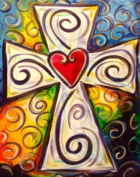 imagenes cruces en canvas easter cross painted on canvas cruces pinterest