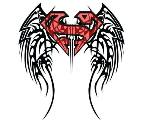 tribal superman tattoo design tattoos logos feathers and