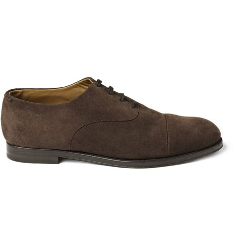 suede oxford shoes jimmy choo draycott suede oxford shoes in brown for lyst