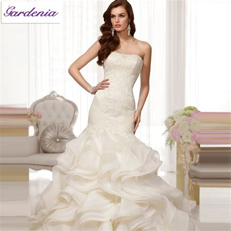 2014 design your own wedding dress ivory mermaid strapless