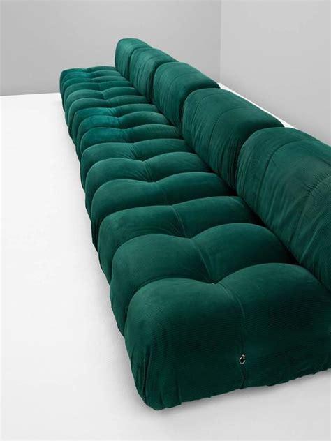 mario upholstery mario bellini camaleonda modular sofa in original green