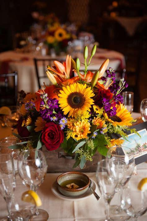 Sunflower Centerpieces For Weddings Sunflower Centerpiece Wedding Center Pieces