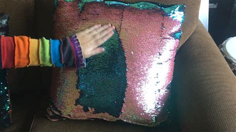 color changing pillow color changing pillows two tone sequin fabric diy