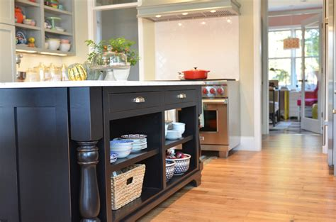 open shelves in island kitchen stuff plus pinterest