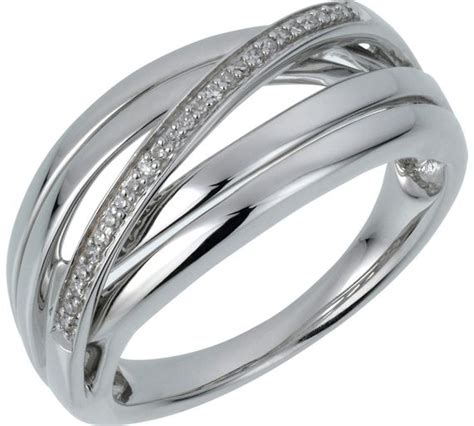 buy sterling silver crossover ring at argos co uk