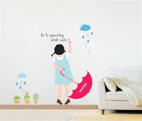 wall adhesive stickers rainy day wall stickers wallstickery