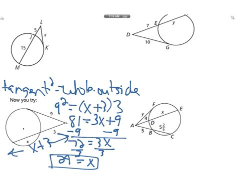 Segment Lengths In Circles Worksheet Answers by Showme Segment Relationships In Circles