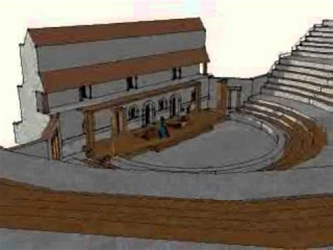3d model and draws of house in athens irene kastriti ancient greek theatre youtube