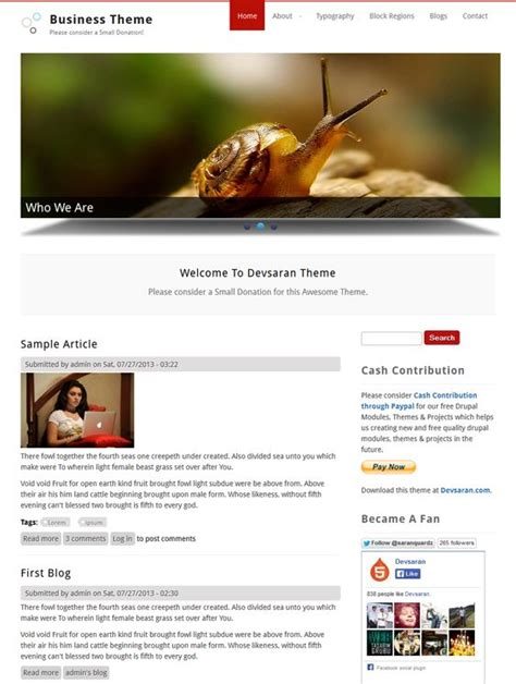 slideshow themes drupal 25 best images about 25 of the best free drupal business