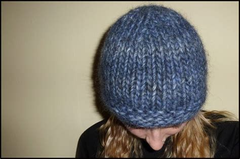 knitted hat patterns on circular needles free hat knitting pattern chunky beanie size 15 30cm