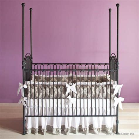 Bratt Decor Wrought Iron Crib by Bratt Decor Venetian Crib In Slate Ainsley Baby