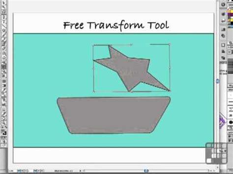 adobe illustrator cs to cs5 free transform tool illustrator tutorial the amazing free transform tool
