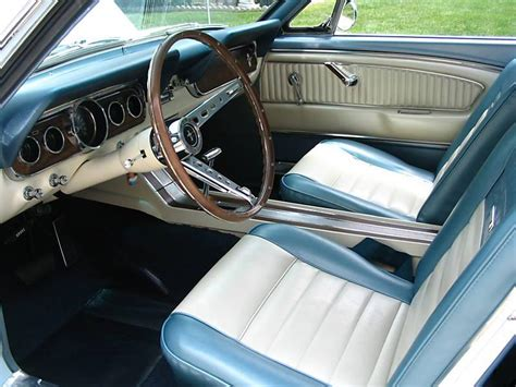 1966 Mustang Pony Interior arcadian blue 1966 ford mustang hardtop mustangattitude