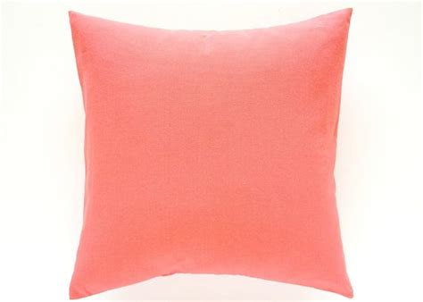 Solid Coral Pillows by Solid Coral Pink Decorative Pillow Cover All Sizes Throw