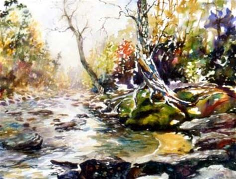 Watercolor River Tutorial | watercolor painting tutorial colorful river and forest