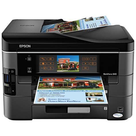Printer Epson Wifi epson workforce 840 wireless inkjet all in one printer the tech journal