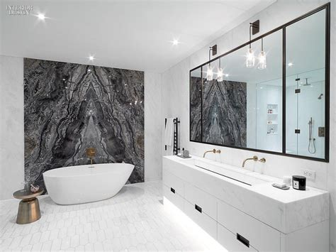 bathroom design nyc 30 simply amazing interiors at nyc residences marble stones wall accents and 30th