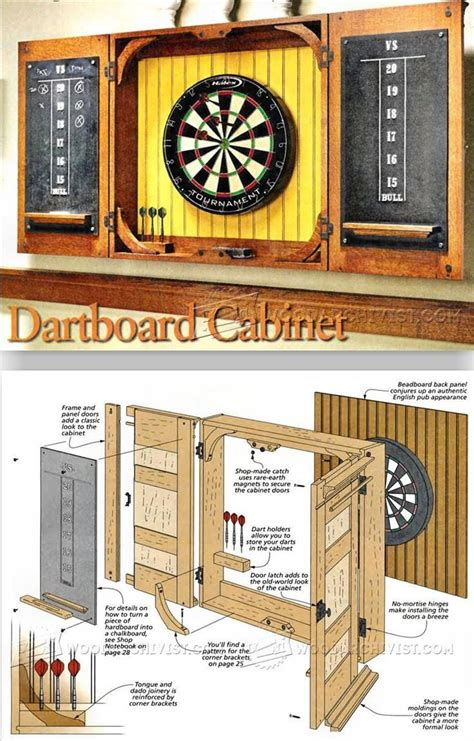 Cabinet Dartboard by Dartboard Cabinet Plans Woodworking Plans And Projects