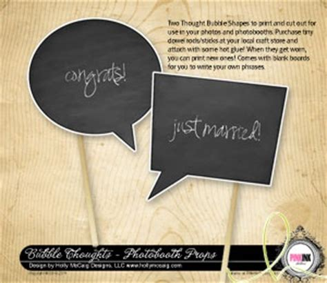 diy chalkboard thought s printable diy thought props photo booths