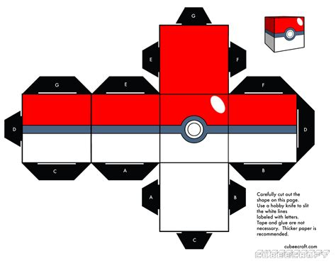 How To Make Paper Pokeball - works papercraft template collection